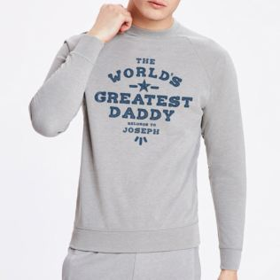 Personalised The Worlds Greatest Daddy Grey Sweatshirt Product Image