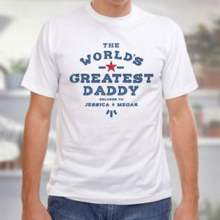Personalised The Worlds Greatest Daddy T-Shirt Product Image