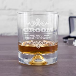 Personalised Groom Whisky Tumbler Product Image