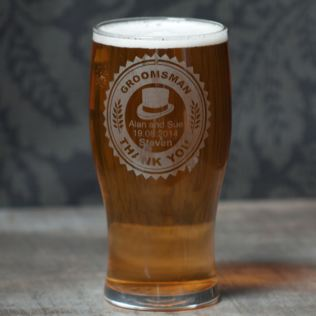 Personalised Groomsman Pint Glass Product Image