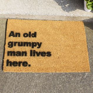 Grumpy Man Doormat Product Image