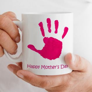Happy Mother's Day Babys Personalised Handprint Mug Product Image