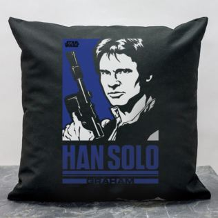 Personalised Star Wars Han Solo Pop Art Cushion Product Image