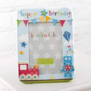 Happy Birthday Blue Kiddiwinks Photo Frame Product Image