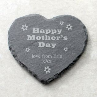 Happy Mother's Day Personalised Slate Coaster Product Image