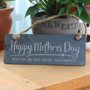 Personalised Happy Mother's Day Hanging Slate Plaque Product Image