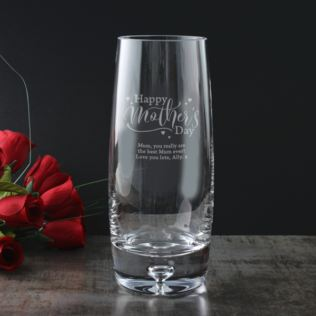 Personalised Happy Mother's Day Bubble Base Vase Product Image