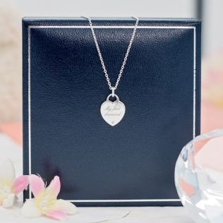 My First Diamond Heart Pendant in Personalised Gift Box Product Image