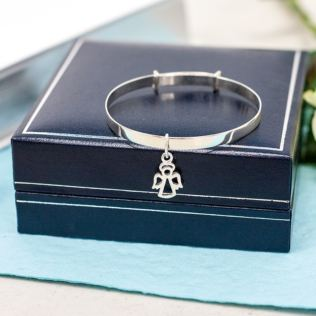 Guardian Angel Bangle in Personalised Gift Box Product Image