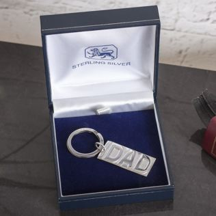 Personalised Sterling Silver Dad Keyring Product Image