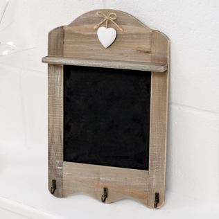 Scalloped Blackboard with 3 Hooks Product Image