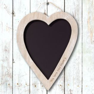 Personalised Heart Shaped Chalkboard Product Image