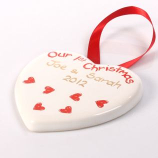 Our First Christmas Heart Decoration Product Image
