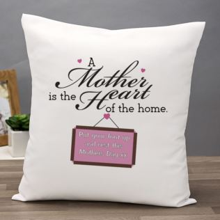 Mother's Day Gift - Heart Of The Home Personalised Cushion Product Image