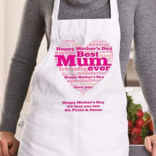 Mother's Day Heart of Words Personalised Apron Product Image