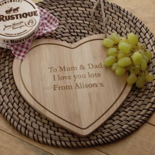 Personalised Heart Shaped Cheeseboard Product Image