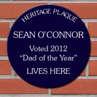 Fathers Day Personalised Spoof Blue Heritage Plaque Product Image