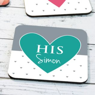 Personalised His & Hers Coasters Product Image