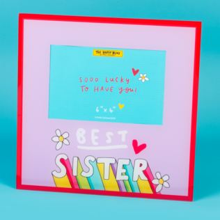 Emily Coxhead The Happy News Best Sister Glass Photo Frame  6 x 4 Product Image
