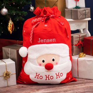 Personalised Embroidered Luxury Santa Sack Product Image