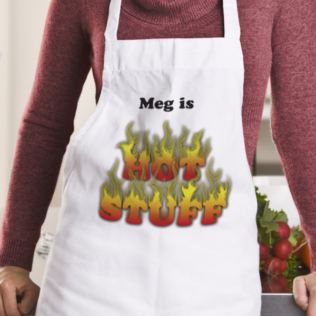 Hot Stuff Personalised Apron Product Image