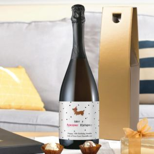 HotchPotch Pawsome Personalised Birthday Prosecco Product Image