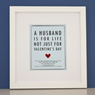 Personalised Husband For Life Valentine's Framed Print Product Image