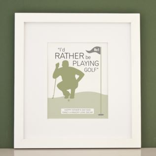 Personalised I'd Rather Be Playing Golf Framed Print Product Image
