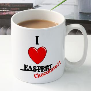 I Heart Easter (Chocolate) Personalised Mug Product Image