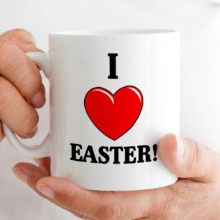 I Heart Easter Personalised Mug Product Image