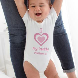 I Heart My Daddy Personalised Baby Grow Product Image