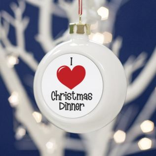 I Love.... Personalised Bauble Product Image