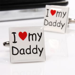 I Love My Daddy Cufflinks With Engraved Gift Box Product Image