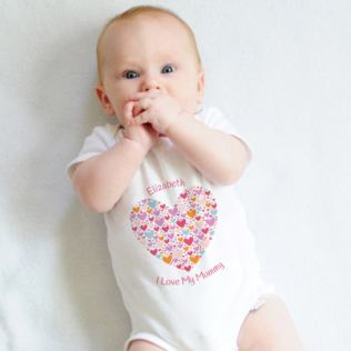 Personalised I Love My Mummy Baby Grow Product Image