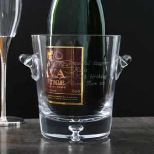Personalised Bubble Base Crystal Ice Bucket Product Image