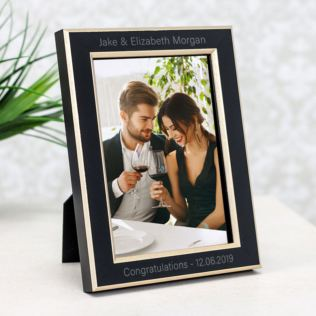 Personalised Black and Gold 5 x 7 Photo Frame Product Image
