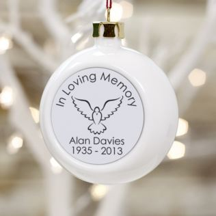 In Loving Memory Personalised Christmas Bauble Product Image