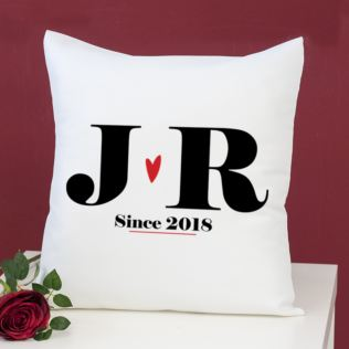 Personalised Couples Initial Cushion Product Image