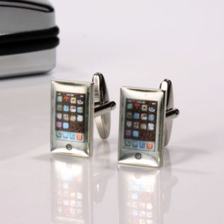 Personalised Smart Phone Cufflinks Product Image