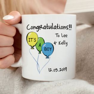Its a Boy Personalised Mug Product Image