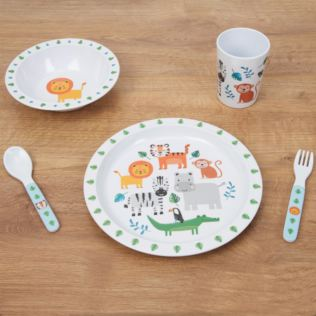 Jungle Five Piece Melamine Breakfast Set Product Image