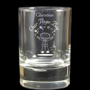 Pageboy's Etched Character Juice Glass Product Image