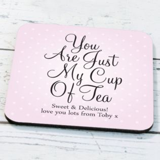 Personalised Just My Cup Of Tea Coaster Product Image