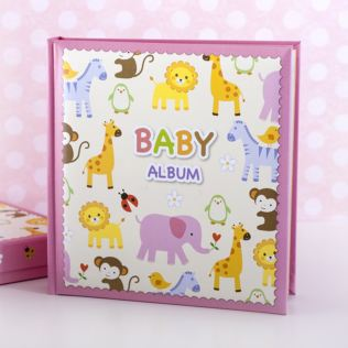 Baby Girls Zoo Photo Album With Keepsake Box Product Image