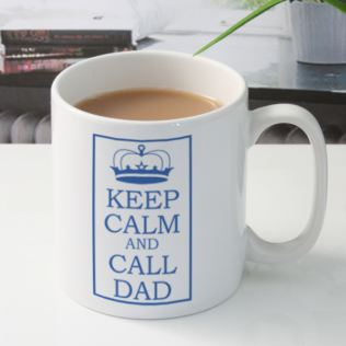 Keep Calm and Call Dad Personalised Mug Product Image