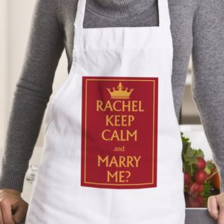 Personalised Keep Calm Valentine's Day Apron Product Image
