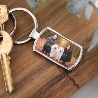 Engraved Photo Keyring Product Image