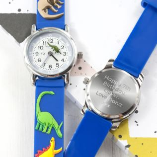 Kids Personalised Dinosaur Watch Product Image