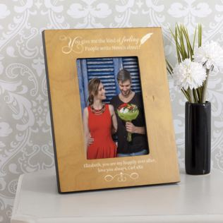 Personalised Kind Of Feeling Wooden Photo Frame Product Image