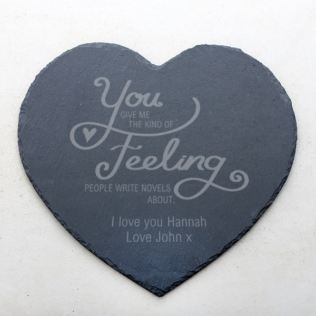 Personalised Kind Of Feeling Slate Heart Placemat Product Image